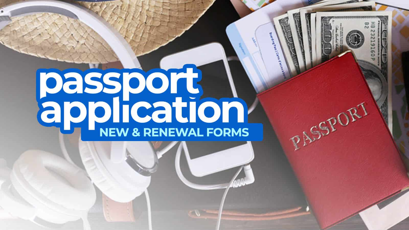Philippine Passport Application Forms New Renewal The Poor