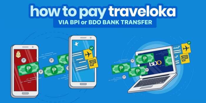 How to Pay Traveloka via BDO or BPI Transfer