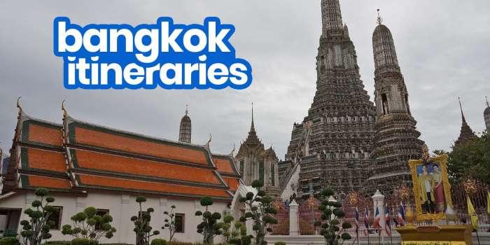 Sample DIY BANGKOK ITINERARIES: 1, 2, 3, 4, 5, 6, 7 Days
