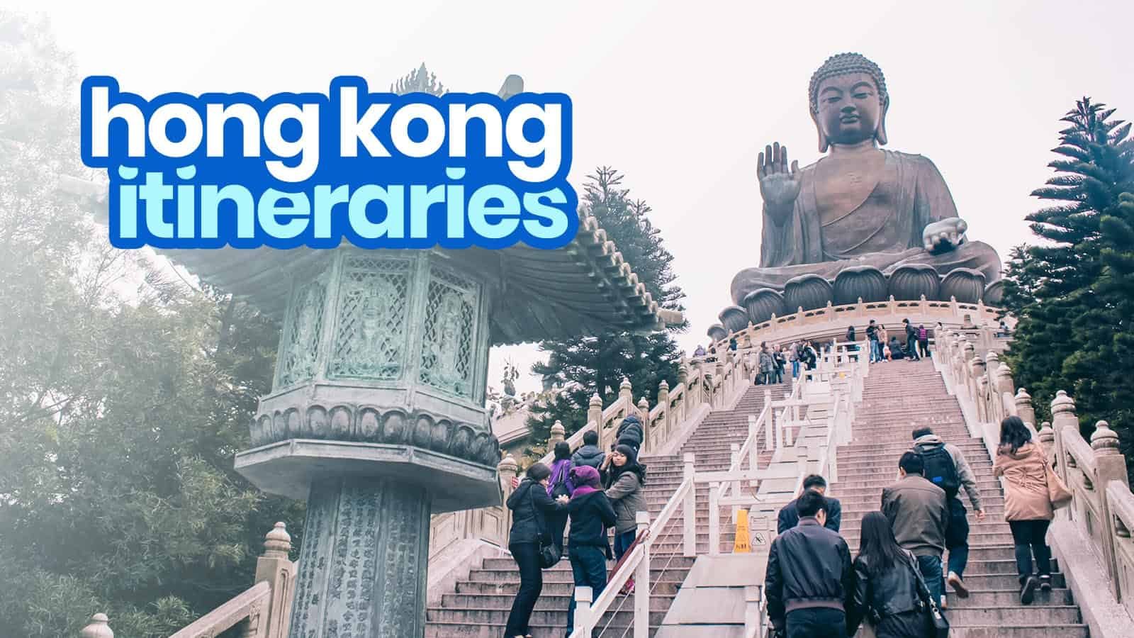 Sample HONG KONG ITINERARIES: 1-6 Days