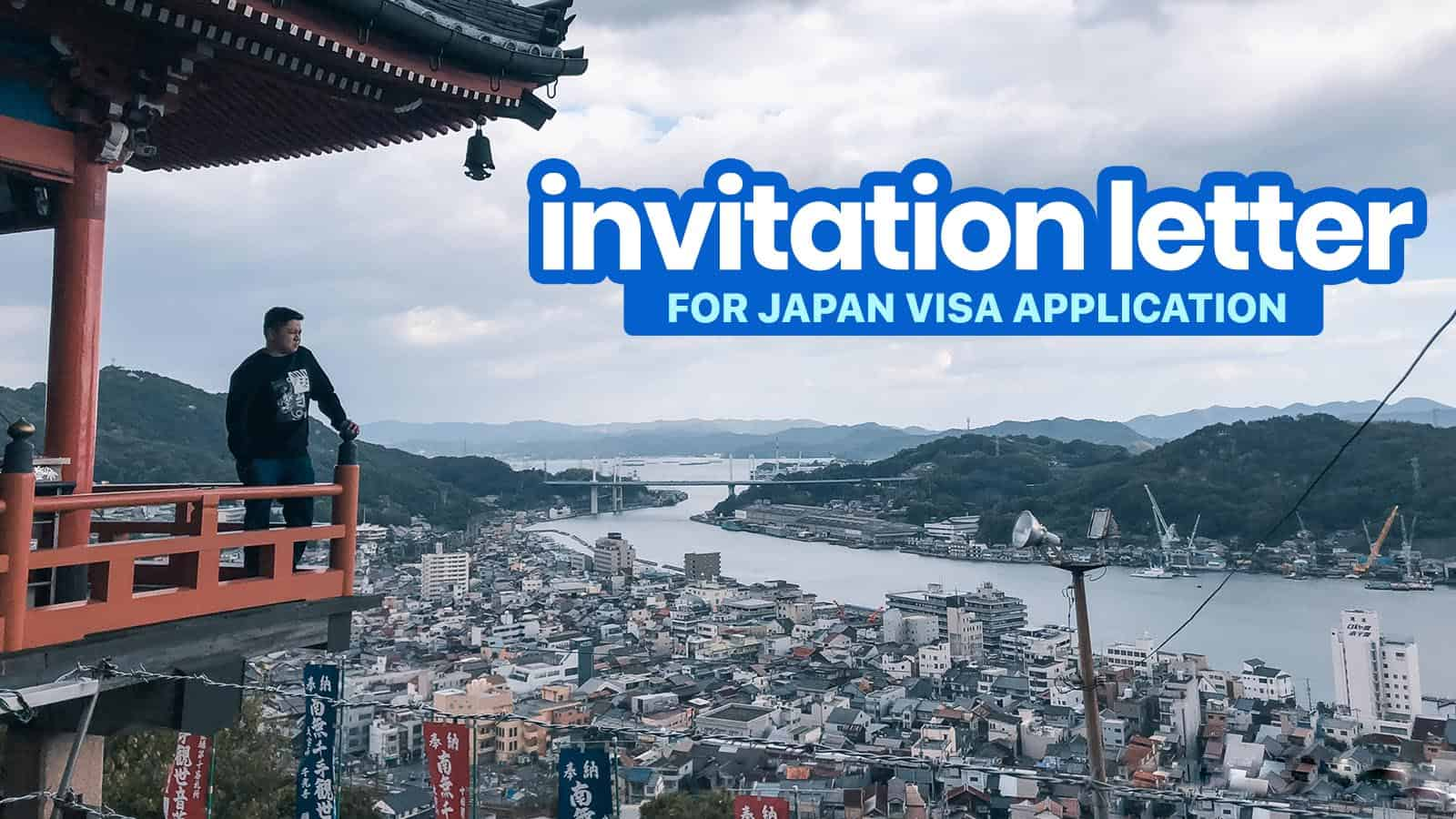 Sample Invitation Letter For Japan Visa Application Reason For