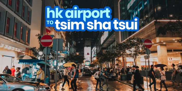 HONG KONG AIRPORT to TSIM SHA TSUI: By Train & By Bus