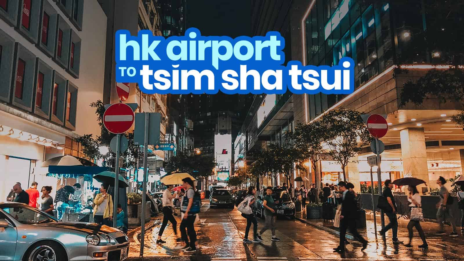 Hong Kong Airport To Tsim Sha Tsui By Train By Bus The