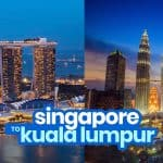 SINGAPORE TO KUALA LUMPUR by BUS or TRAIN: Crossing the Border