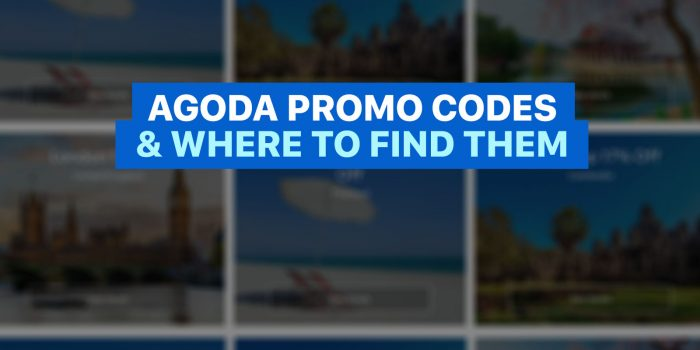 AGODA PROMO CODES and Where to Find Them