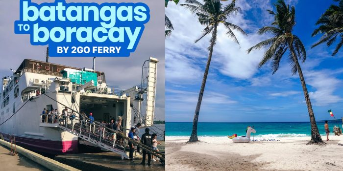MANILA TO BORACAY via BATANGAS PORT: By Bus + 2GO TRAVEL Ferry