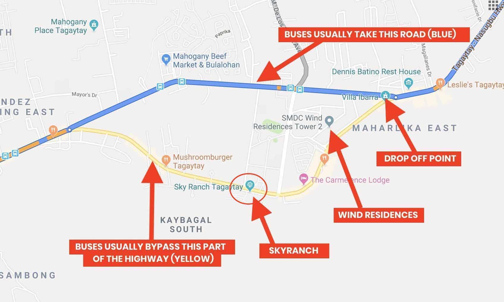 How To Get To Tagaytay Manila To Sky Ranch Olivarez
