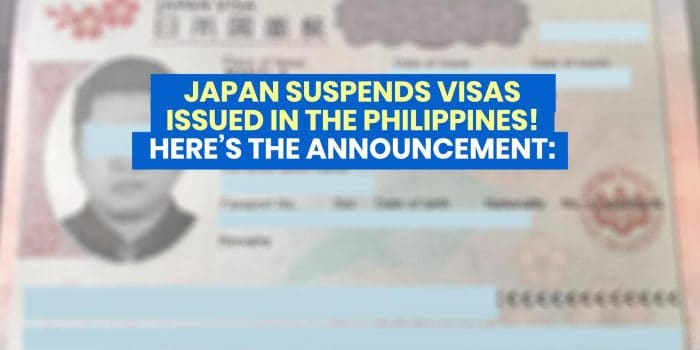 JAPAN Suspends Visas Issued in the Philippines Prior to March 27