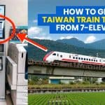 How to Get TAIWAN TRAIN TICKETS from 7-Eleven (ibon Kiosk)