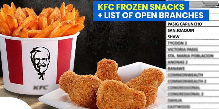 KFC Frozen Packs + List of Open Branches in the Philippines