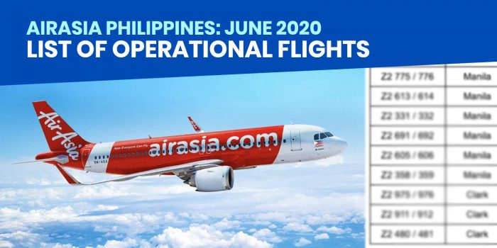 AIRASIA PHILIPPINES: List of Operational Flights Starting June 5, 2020