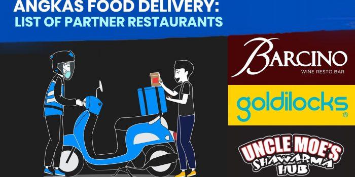 ANGKAS FOOD DELIVERY: List of Partner Restaurants