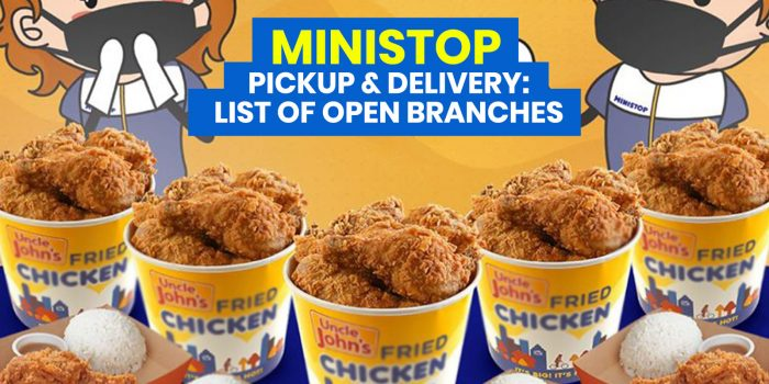 MINISTOP DELIVERY & PICKUP: List of Open Branches + Frozen Packs Menu