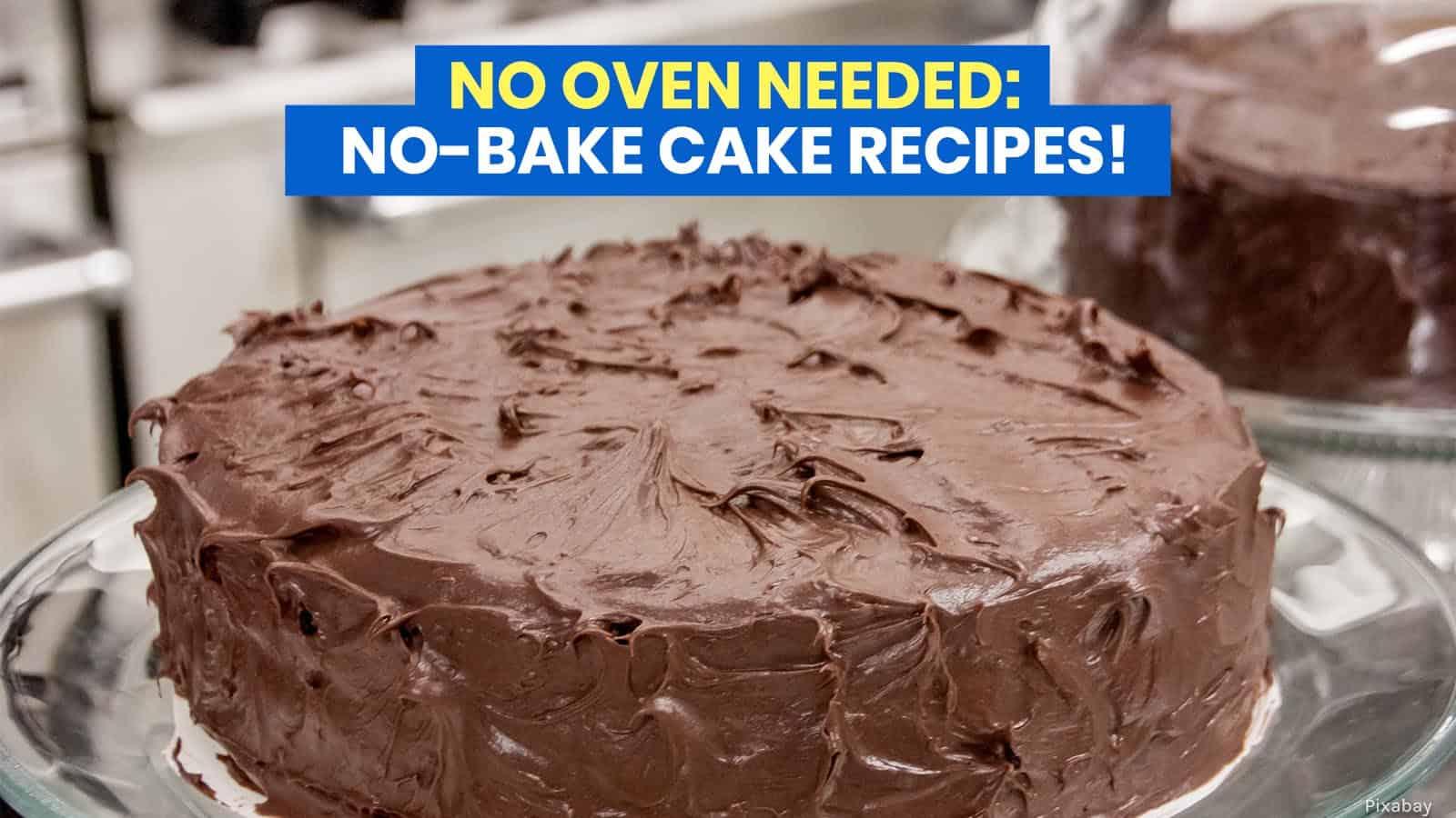 10 NO-BAKE CAKE RECIPES: No Oven Needed!