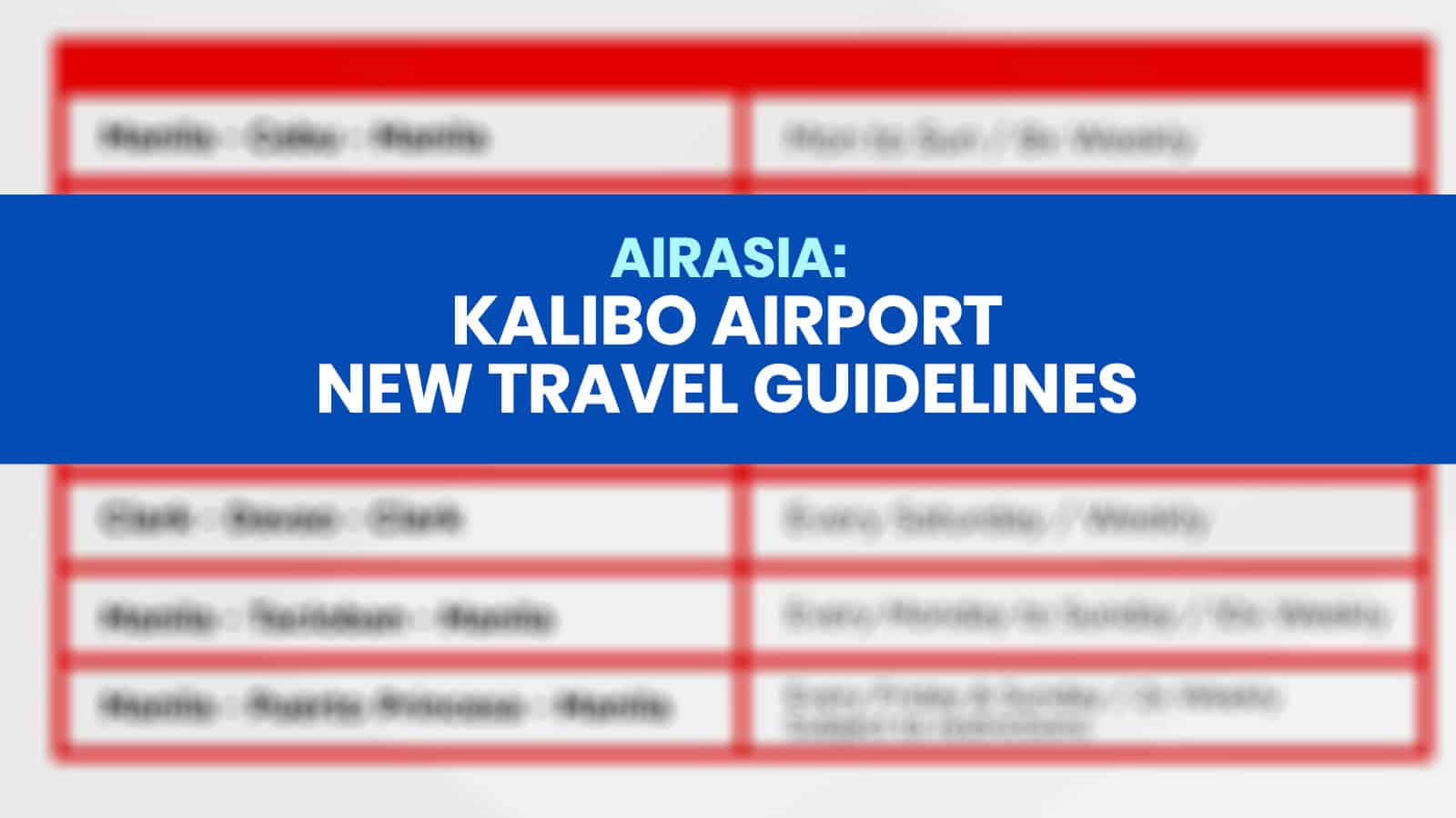 KALIBO AIRPORT: New Travel Guidelines & Requirements (AirAsia)