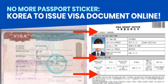 NO MORE STICKER: How to Download & Print KOREAN VISA GRANT NOTICE