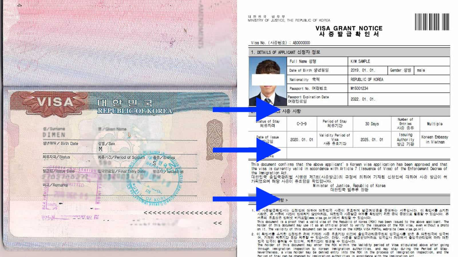 No More Sticker How To Download Print Korean Visa Grant Notice The Poor Traveler Itinerary Blog