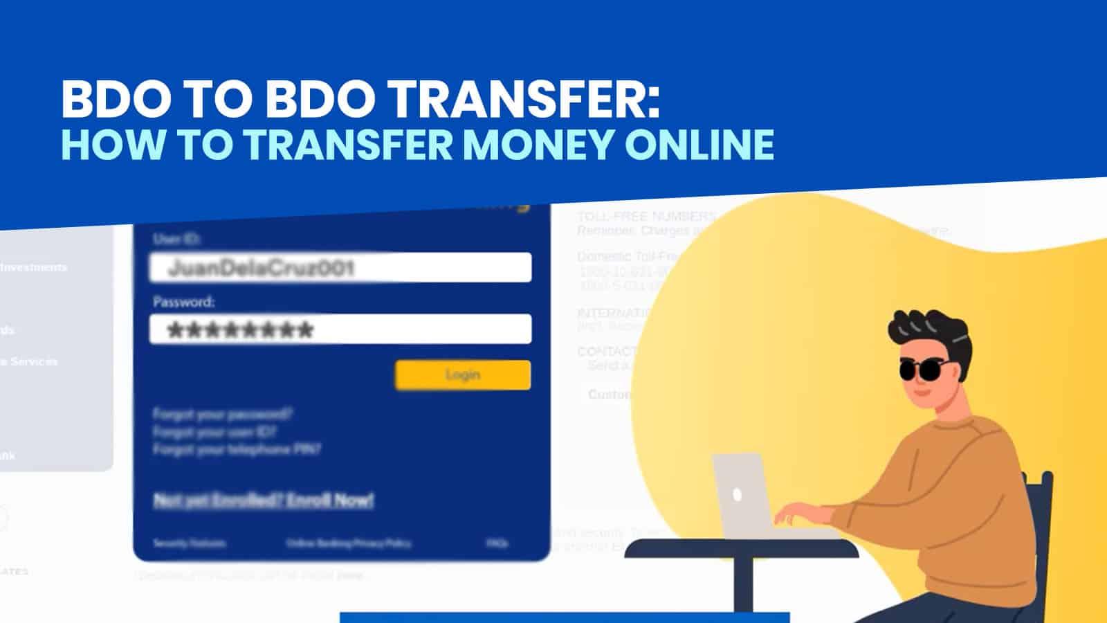 BDO to BDO: How to Transfer Money to Another BDO Account via Online Banking