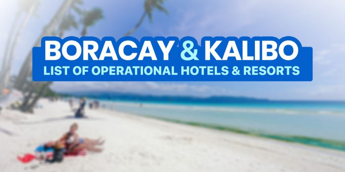 BORACAY & KALIBO 2021: List of DOT-Accredited Hotels & Resorts (New Normal Update)