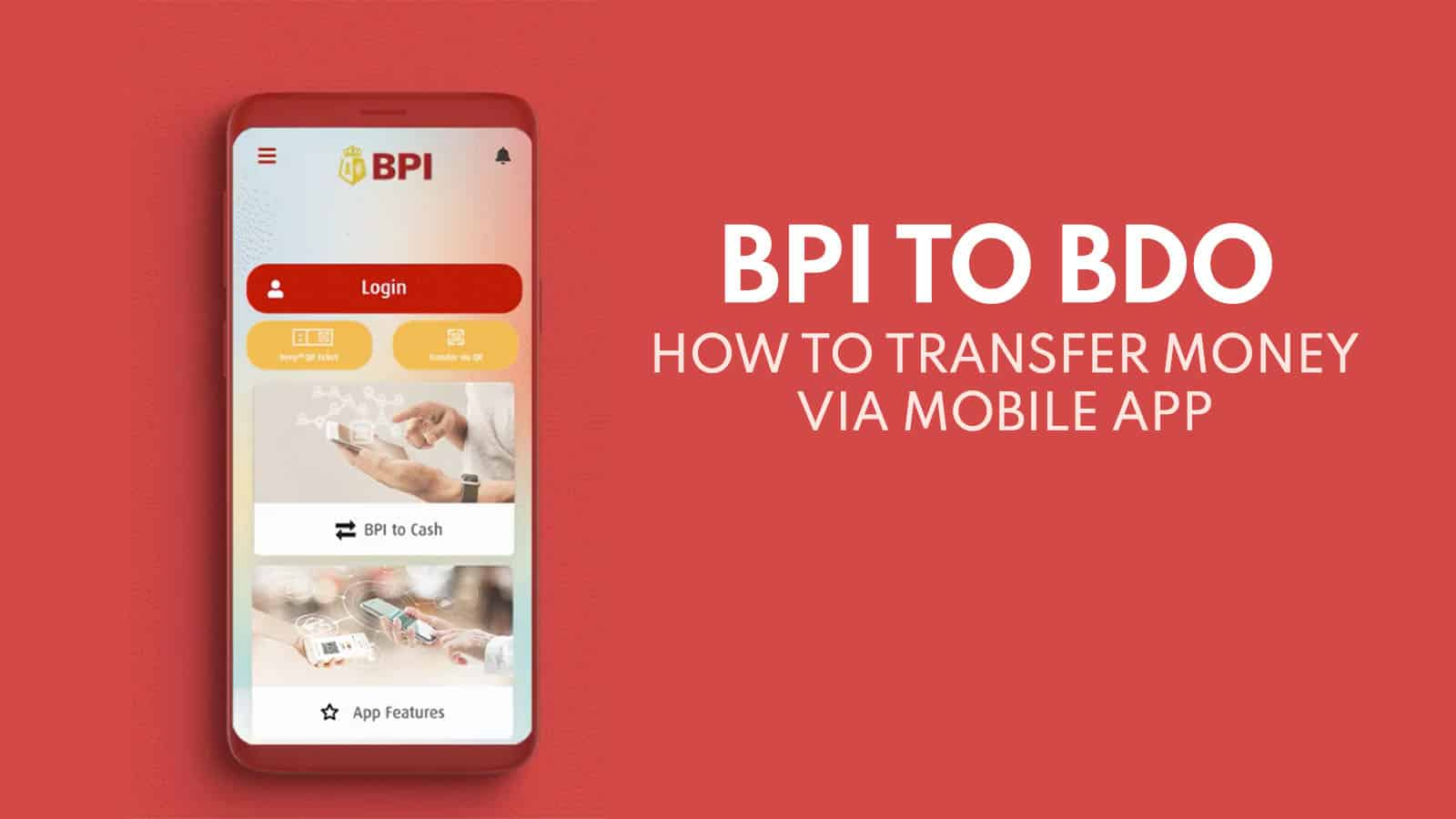 BPI to BDO: How to Transfer Money via BPI Mobile App