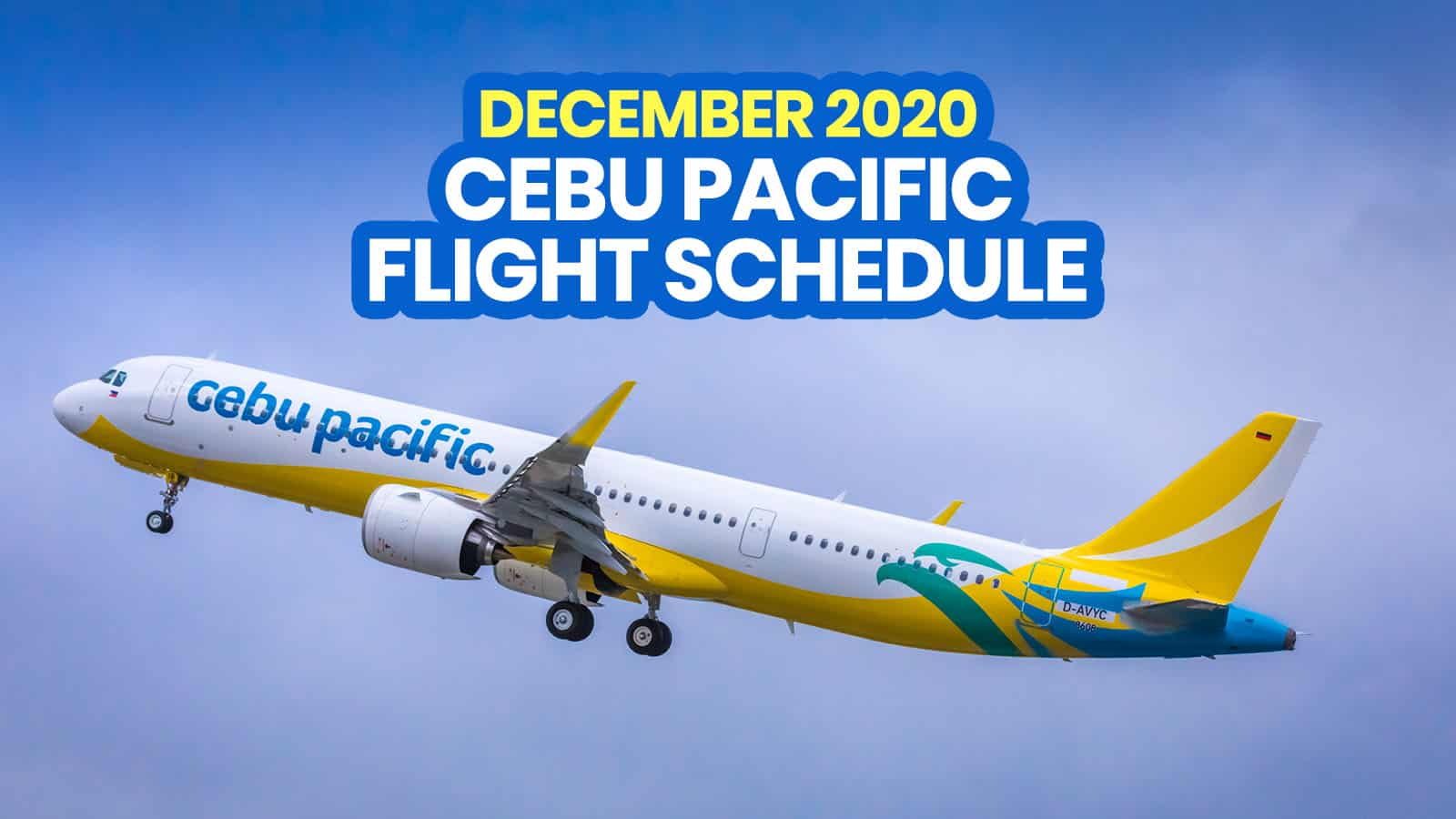 CEBU PACIFIC SCHEDULE: List of Operational Flights for DECEMBER 2020