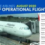 PHILIPPINE AIRLINES: List of Operational Flights starting AUGUST 19, 2020
