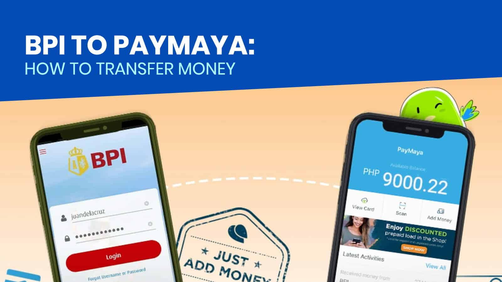 BPI TO PAYMAYA: How to Transfer Money via BPI App