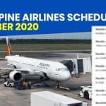 PHILIPPINE AIRLINES: Schedule of Operational Flights for OCTOBER 2020