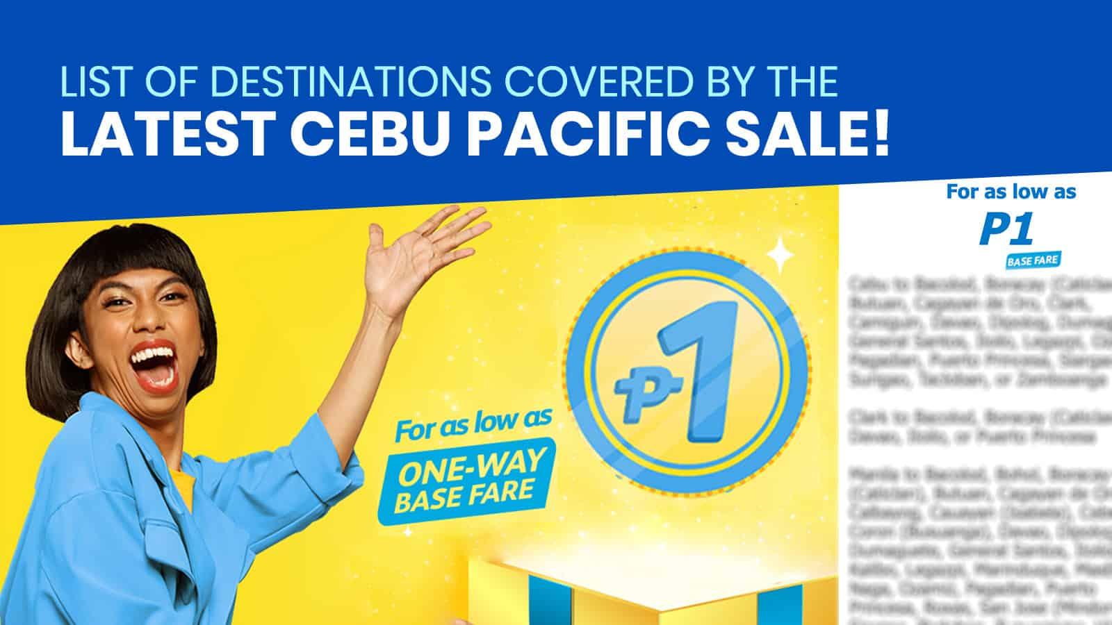 CEBU PACIFIC PROMO: 11.11 PISO SALE (For 2021 Travels)