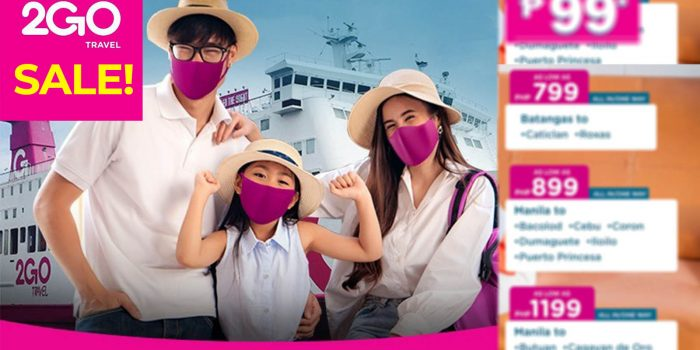 2GO TRAVEL CHRISTMAS & NEW YEAR PROMO: Sail for as Low as P99!