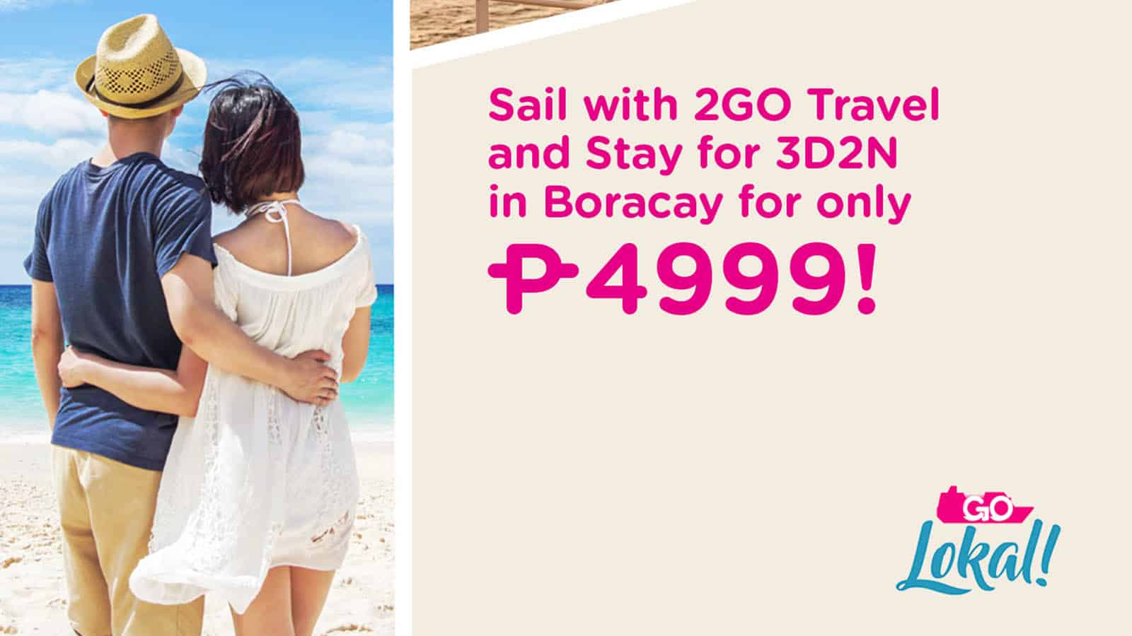 2GO TRAVEL SAIL & STAY PROMO: BORACAY Ferry Ticket + Hotel Stay Package