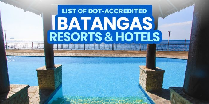 52 DOT-Accredited BATANGAS Hotels & Beach Resorts (Open Now or Soon)