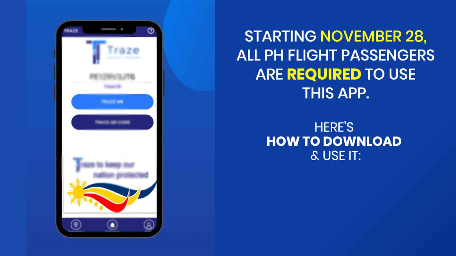 TRAZE APP: Where to Download, How to Register, How to Use at Airport