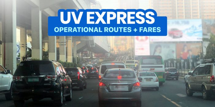 List of Operational UV EXPRESS ROUTES & FARES: Metro Manila, Rizal, Bulacan, Cavite & Laguna