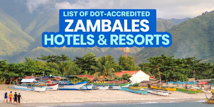 NOW OPEN: 22 DOT-Accredited Hotels & Resorts in ZAMBALES