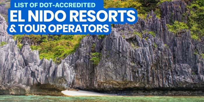 2021 List of DOT-Accredited EL NIDO RESORTS, Hotels & Tour Operators (Palawan)