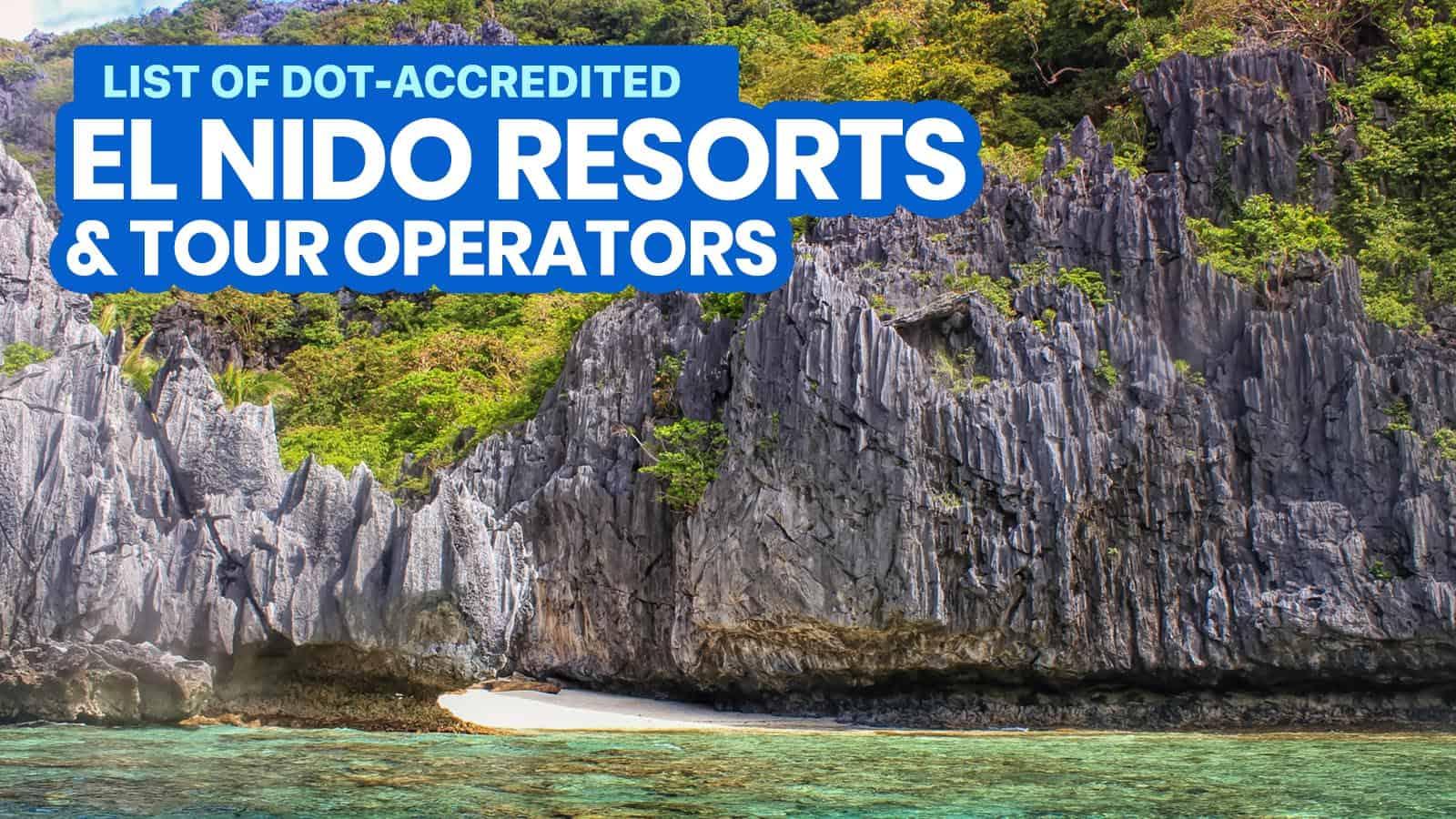 2021 List of DOT-Accredited EL NIDO RESORTS, Hotels & Tour Operators (Palawan)