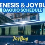 GENESIS TRANSPORT & JOY BUS SCHEDULE 2021: Cubao to Baguio / Baguio to Cubao