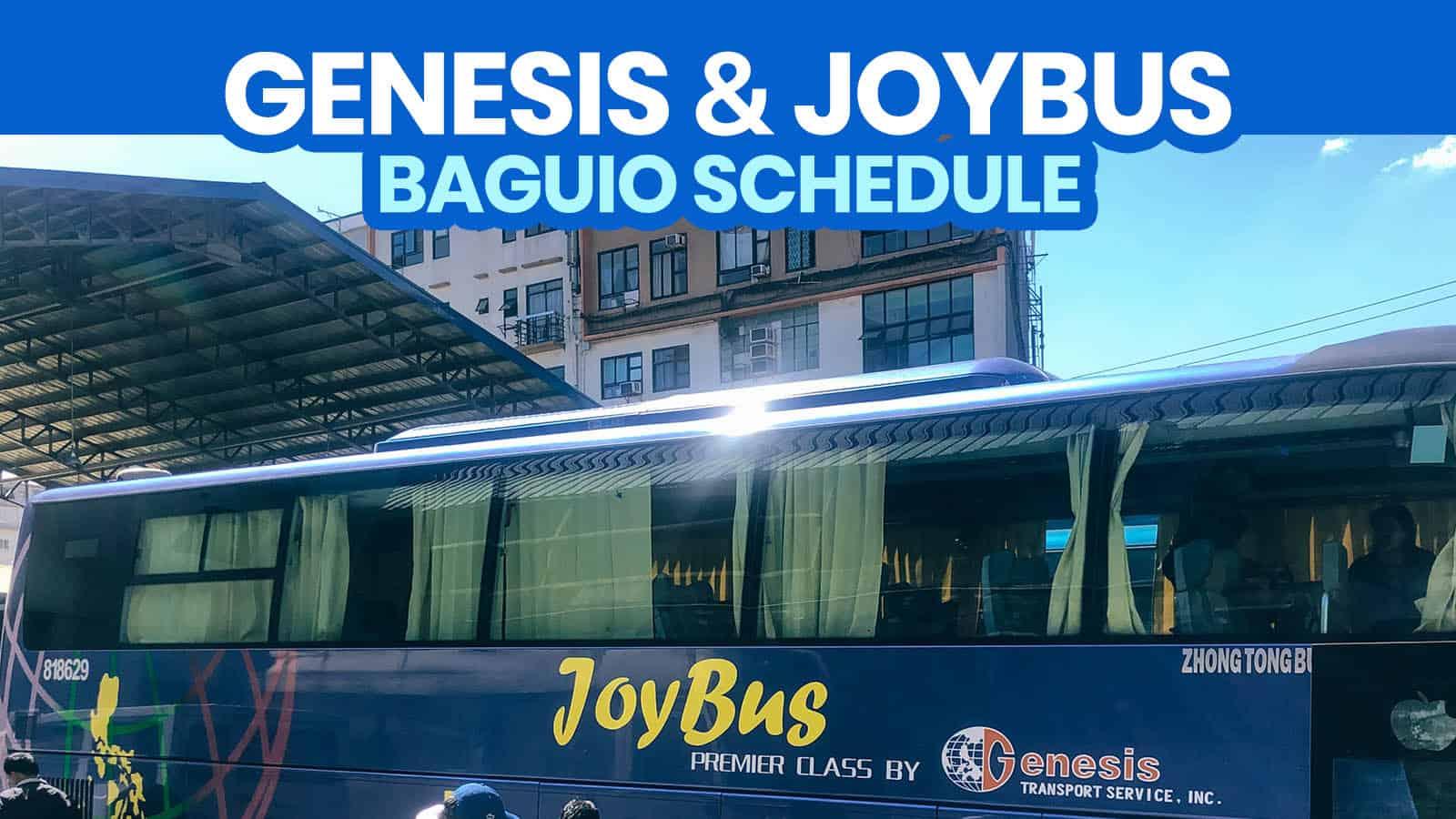 GENESIS TRANSPORT & JOY BUS SCHEDULE 2021: Cubao to Baguio / Baguio to Cubao