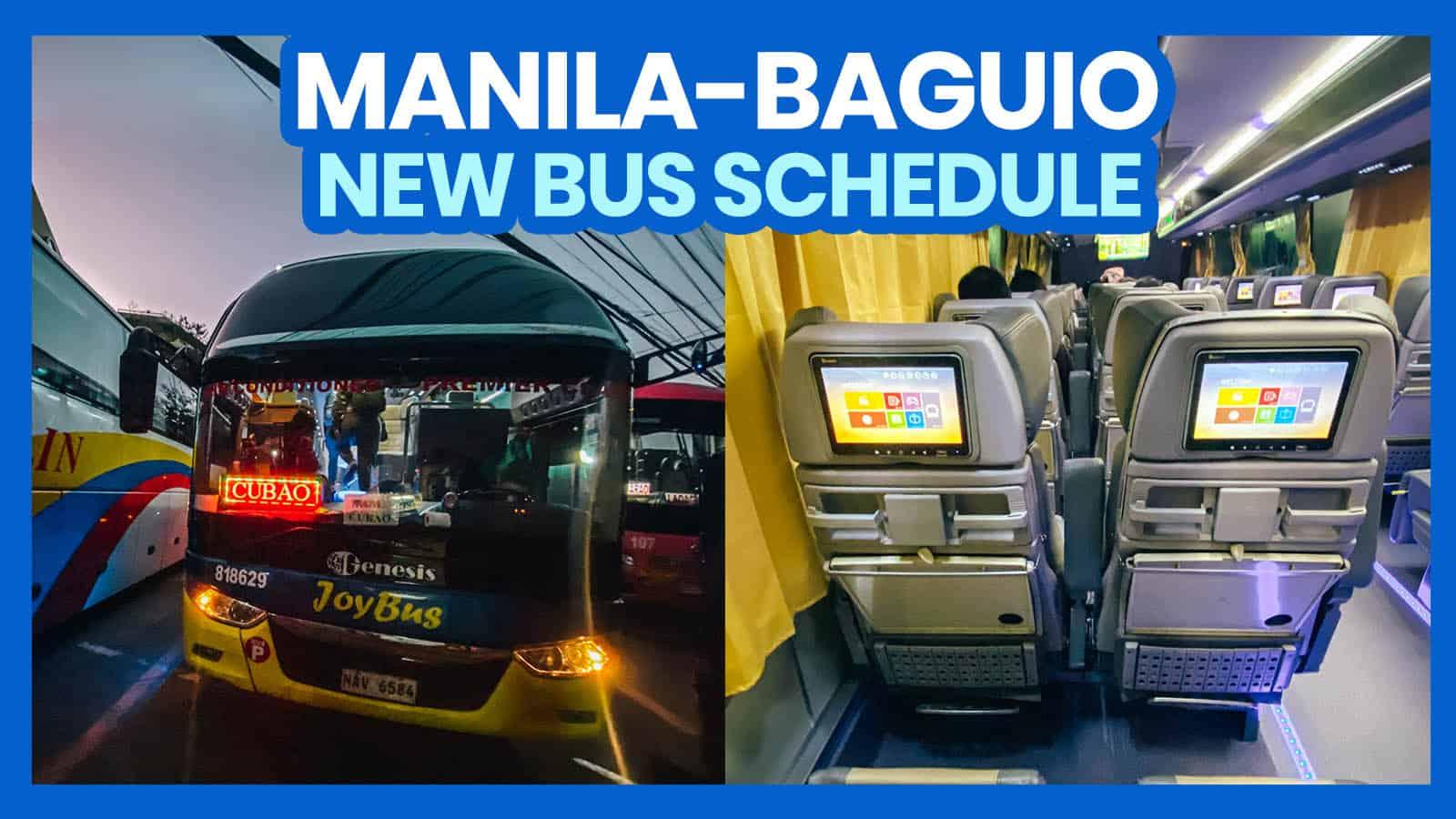 2021 MANILA TO BAGUIO TO MANILA BUS SCHEDULE: Victory Liner, Genesis & JoyBus
