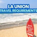 2021 List of LA UNION TRAVEL REQUIREMENTS