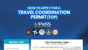 How to Get a TRAVEL COORDINATION PERMIT (TCP) via S-Pass.ph