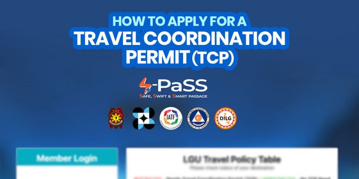 How to Get S-PASS: TRAVEL COORDINATION PERMIT (TCP)
